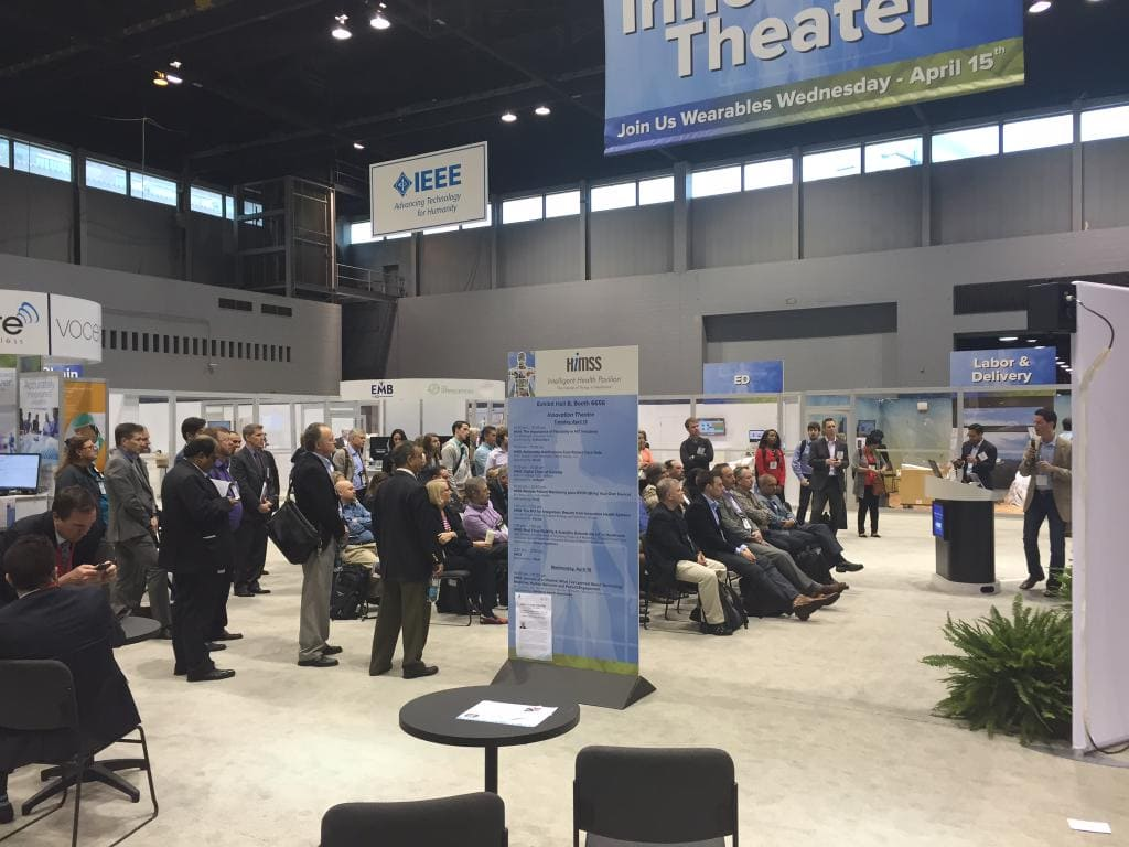 Vivify's founder, Eric Rock, putting the #innovation in Innovation Theater at #HIMSS2015.