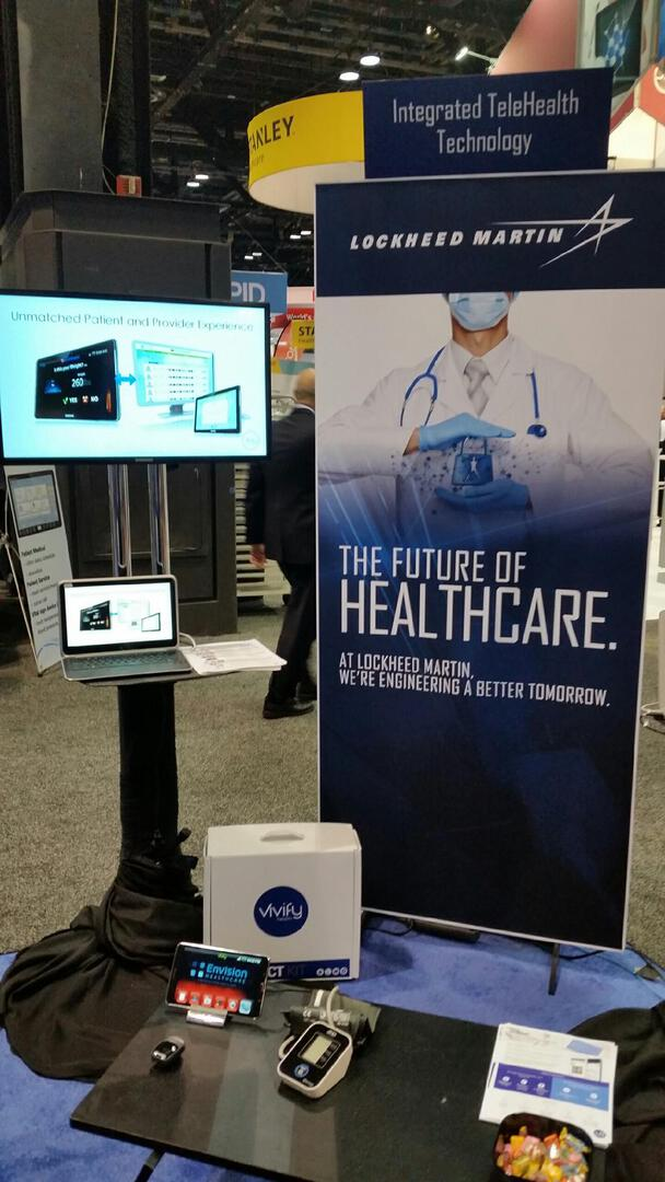 Engineering the future of #healthcare with @LockheedMartin at #HIMSS2015.  Booth #2348.