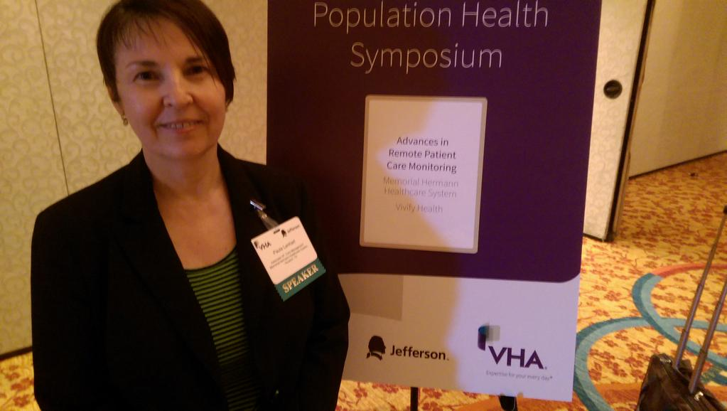 Creating excitement at the VHA Population Health Symposium with Paula Lenhart of @memorialhermann.