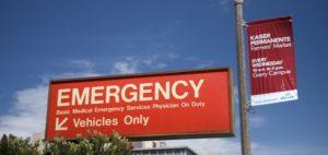 emergency room sign at hospital