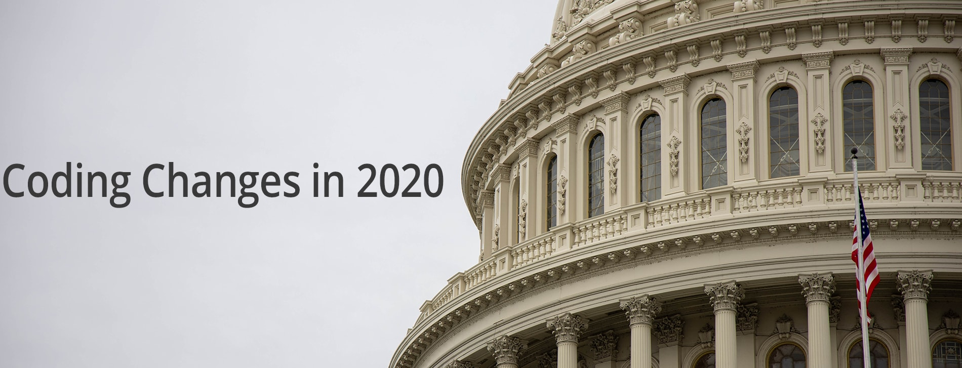coding changes for 2020 with US capitol in background