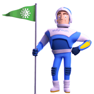 Vivify Guy with Coronavirus Flag