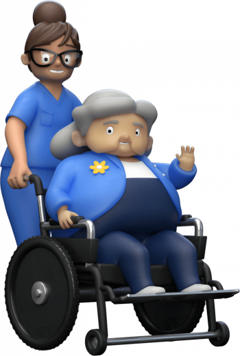 Vh- Imagery- Patient- Gma Wheelchair-Left